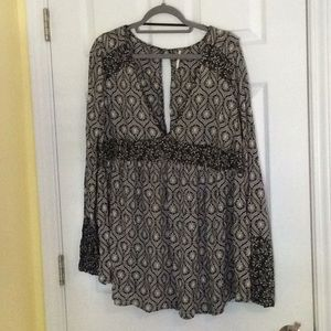 Brand new Free People Boho Babydoll top - L
